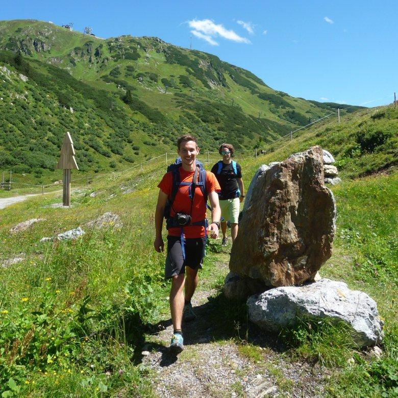 De weg is het doel: de aankomst van Fabian in St. Christoph am Arlberg.