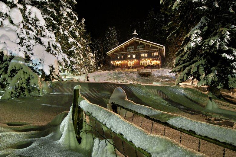 Kerstidylle bij het museum in het Arlberg-Kandahar-Haus in St. Anton am Arlberg. (Foto: Wolfgang Burger)