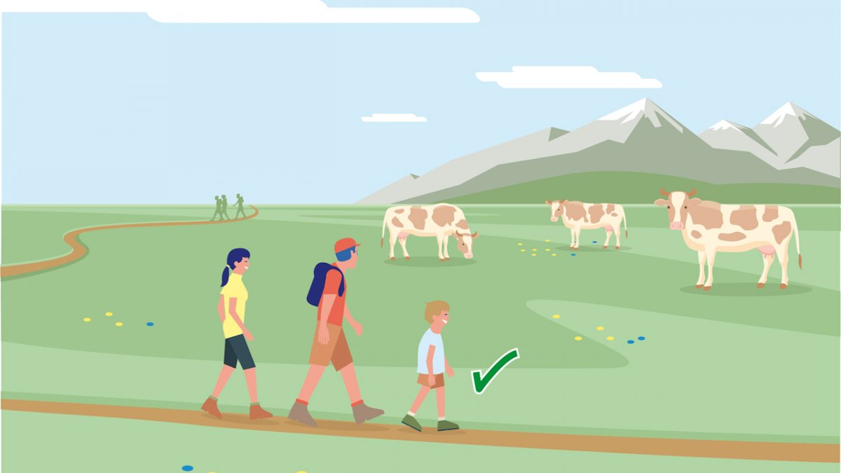 Gedragsregel nr. 5, © Landwirtschaftskammer Tirol