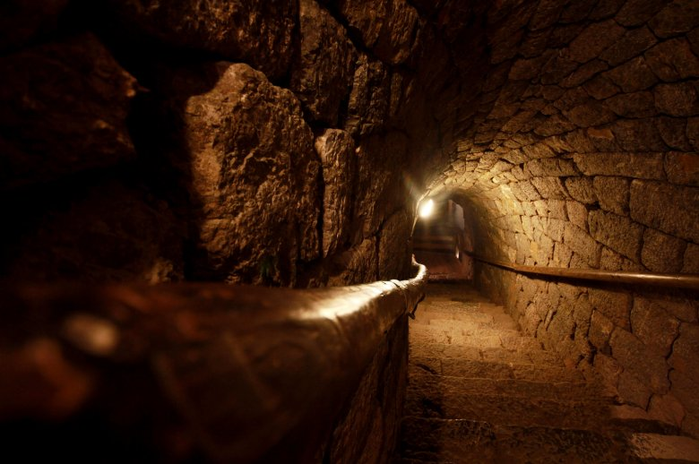 Binnenin de zilvermijn van Schwaz. Foto: Tirol Werbung / Bernhard Aichner