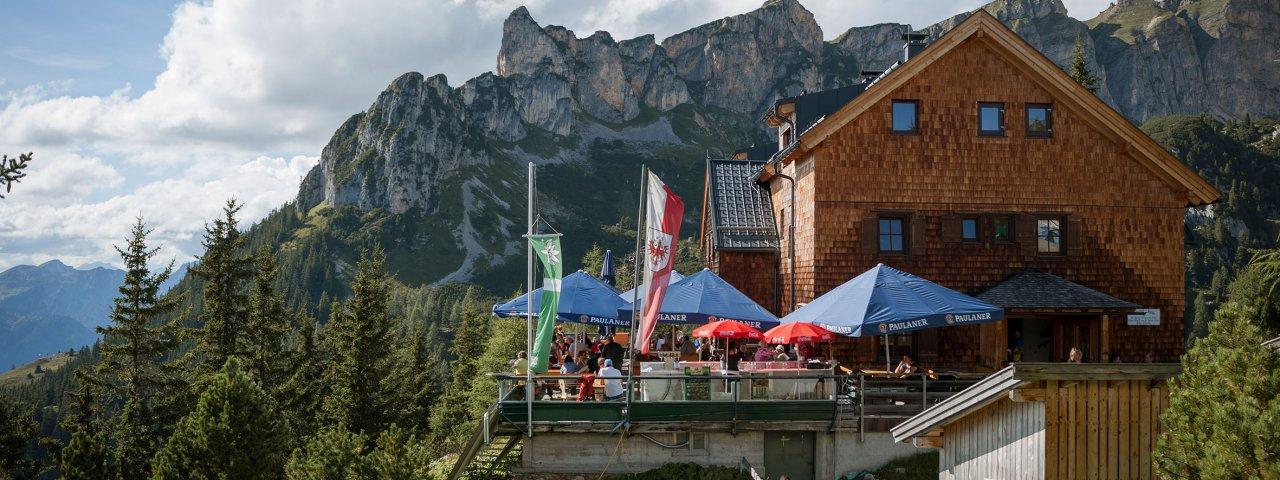 Adelaarsweg etappe 7: Erfurter Hütte, © Tirol Werbung/Jens Schwarz