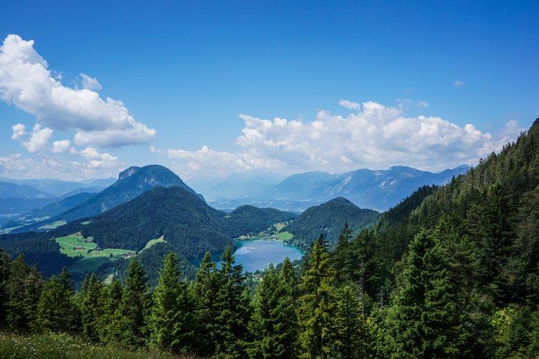 Etappe 1: Fabians uitzicht over de Hintersteiner See.