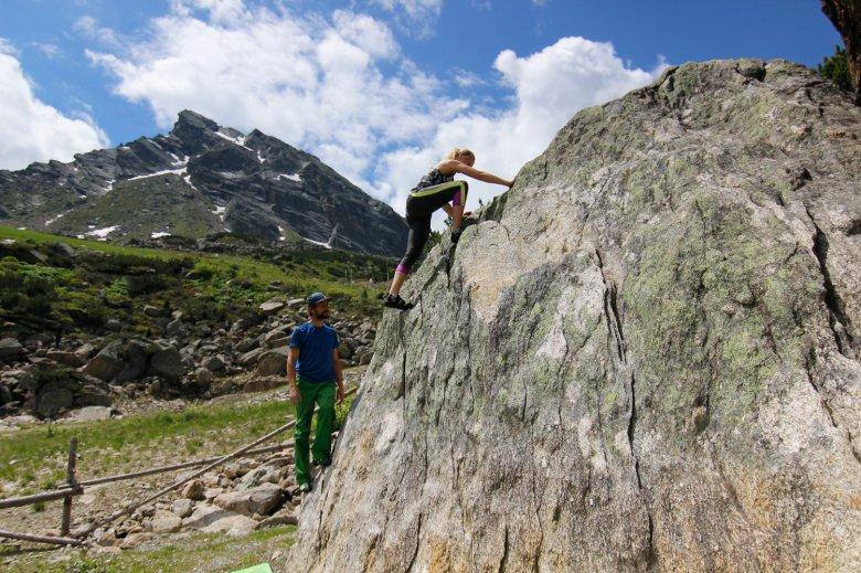 Boulderen in Silvapark Galtür. , © TVB Paznaun-Ischgl