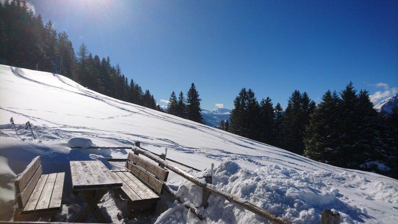 Uitzicht vanaf de Patscher Alm, Foto: Julia König