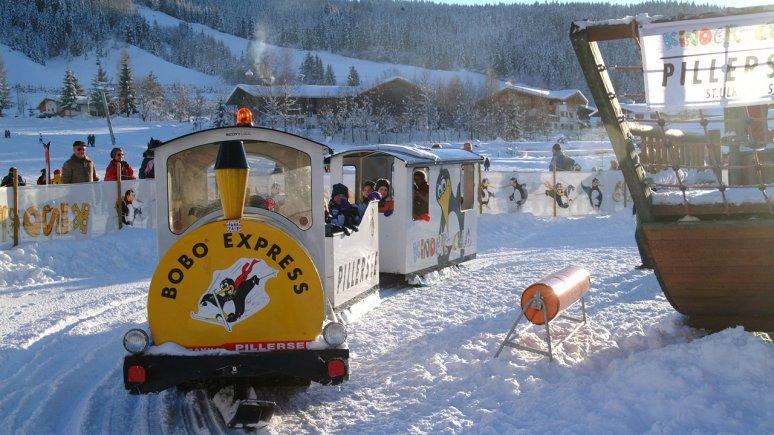 Ritje in de Bobo-Express bij Buchensteinwand, © Bergbahn Pillersee