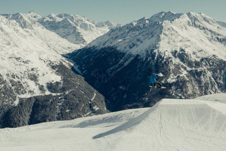 Een kantoor met prachtig uitzicht: het Snowpark in Sölden was tien jaar lang Rudi's werkplek.