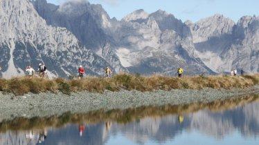 De Tour de  Tirol voert langs het imposante Wilder Kaiser gebergte, © Winfried Stinn