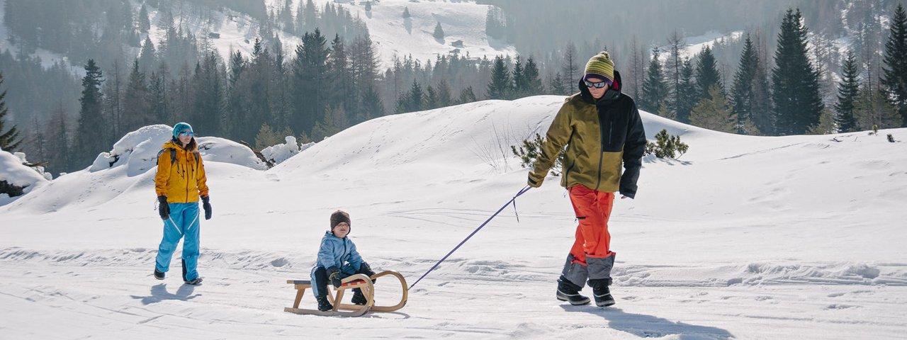 Rodelen in Sillian in Osttirol, © Tirol Werbung/Hans Herbig
