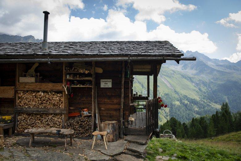 De Trelebitsch Alm ligt op 1.963 meter hoogte.