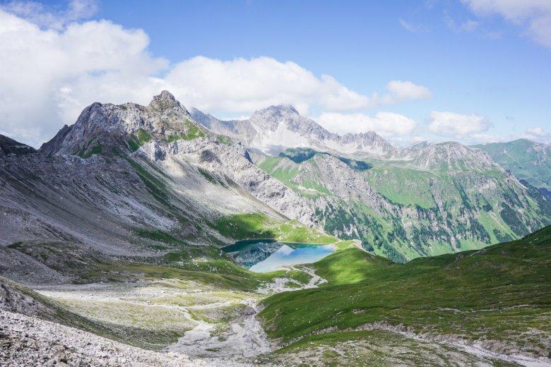 Uitzicht over de Hintersee onderaan de Krindlonscharte. (Alle foto's: Fabian Pimminger)