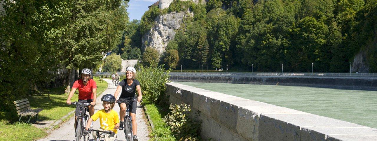 Innradweg ter hoogte van vesting Kufstein, © Tirol Werbung, Nothdurfter