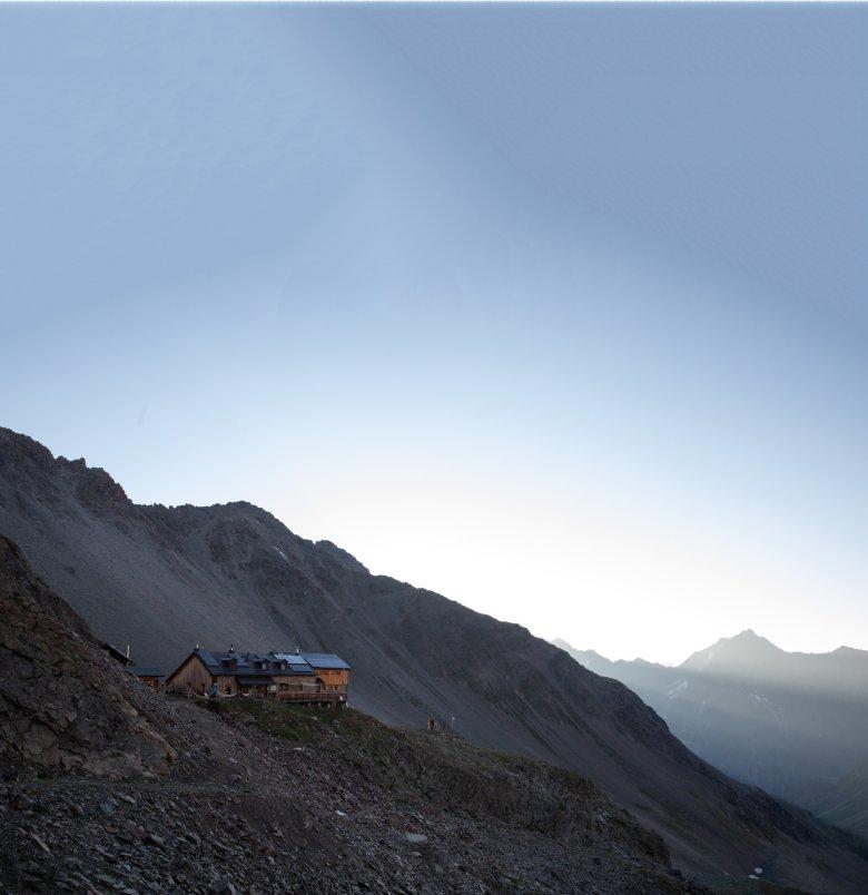 Berghut met heerlijke keuken: de Kaunergrathütte op 2.817 meter hoogte.