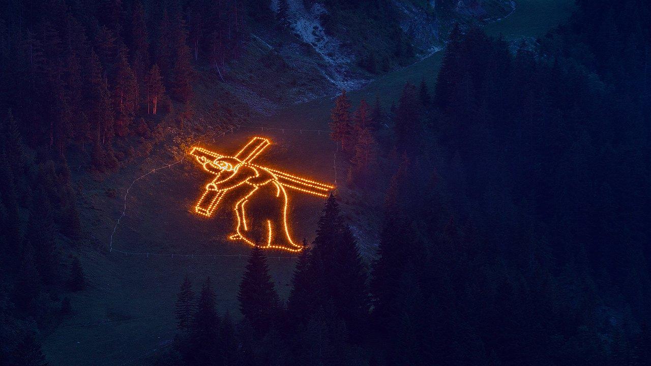 Heilig-hart-van-Jezus-vuur in het Tannheimer Tal, © TVB Tannheimer Tal