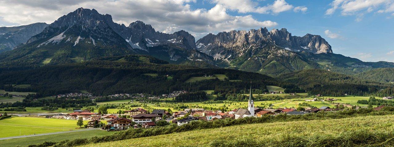 Uitzicht op de Wilder Kaiser bij Ellmau, © Daniel Reiter & Peter von Felbert