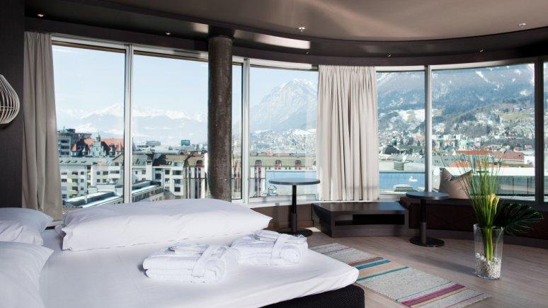 Panoramasuite in Hotel aDLERS in Innsbruck, © Hotel aDLERS