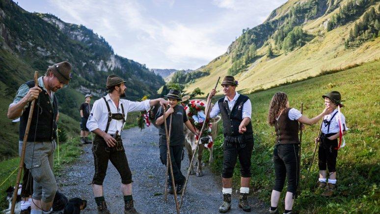 Almabtrieb in Lechtal, © Tirol Werbung/Peter Neusser