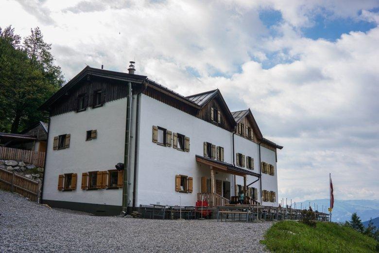 Die komfortable Gaudeamushütte am Wilden Kaiser...