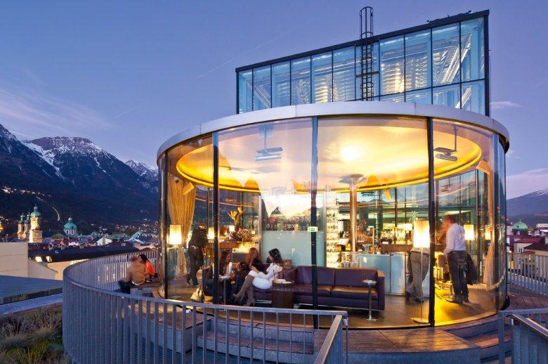 Bar 360° dak van de Innsbrucker Rathauses