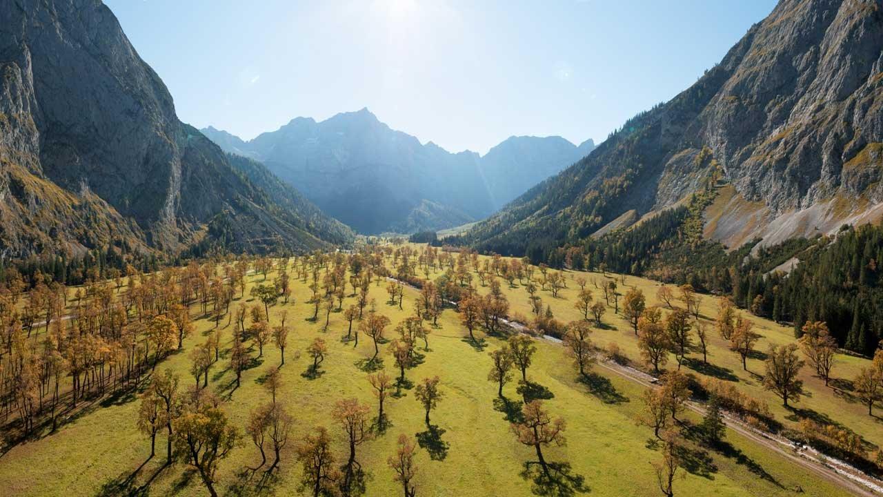 Großer Ahornboden in de herfst, © Tirol Werbung/Mario Webhofer