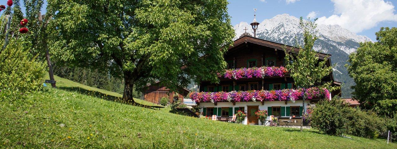 Obholzhof in Scheffau bij de Wilder Kaiser, © Tirol Werbung/Lisa Hörterer
