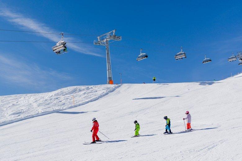 De toegang tot alle skigebieden is steeds mogelijk.