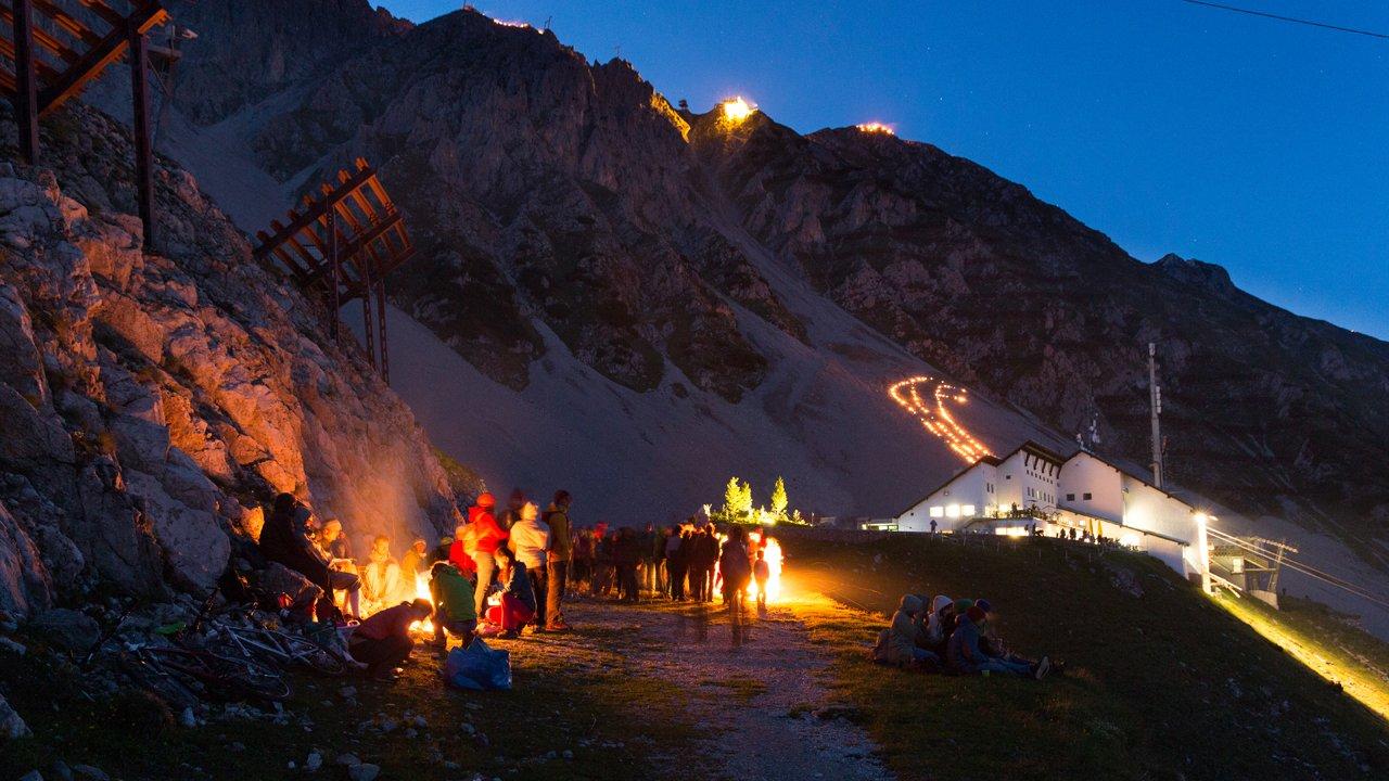 Bergvuur op de Innsbrucker Nordkette, © Innsbrucker Nordkettenbahnen