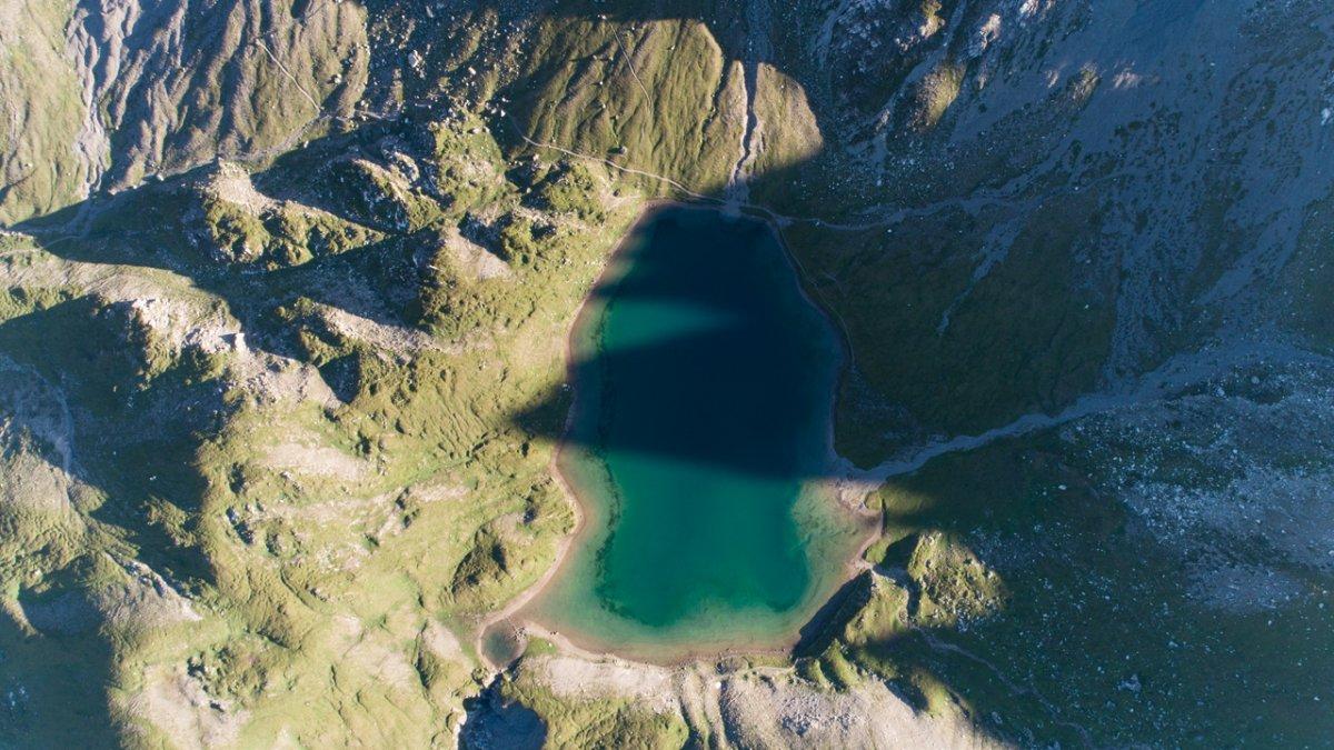 De Steinsee vanuit de lucht