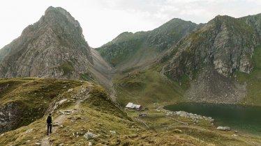 De Obstanserseehütte bij het gelijknamige meer