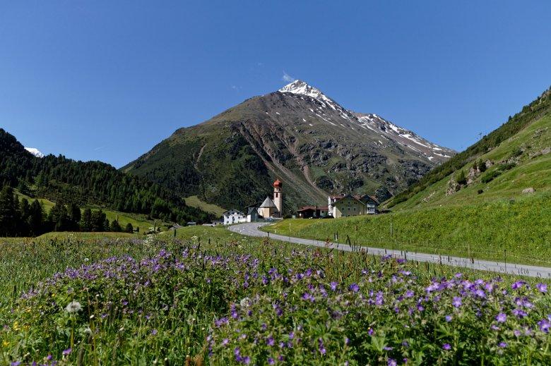 De panoramische wandelroute eindigt in Vent. Foto: Ötztal Tourismus / Anton Brey, © Ötztal Tourismus, Anton Brey