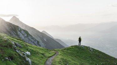 Het hoogtepunt van de Adelaarsweg: de Goetheweg hoog boven het Inntal