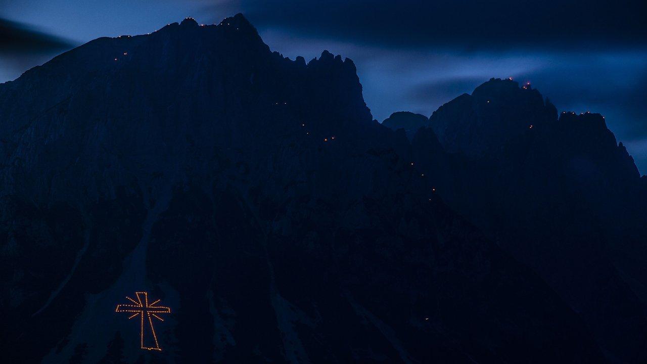 Vreugdevuur op de Wilden Kaiser, © TVB Wilder Kaiser