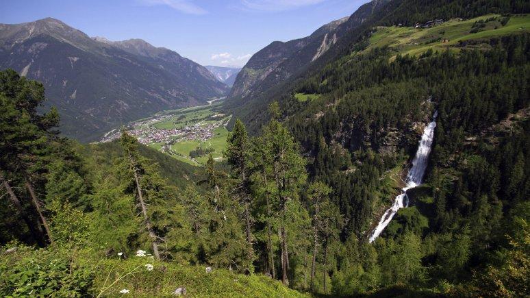 Stuibenfall in Umhausen, © Tirol Werbung/Bernhard Aichner