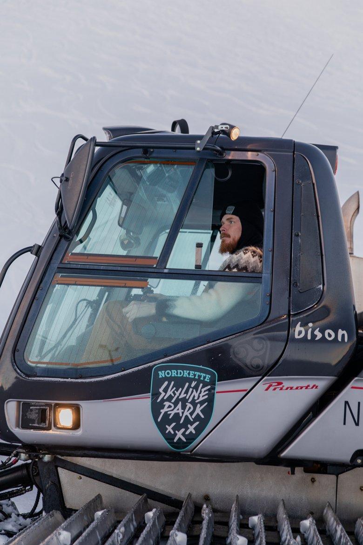 Bjarni Thor Valdimarsson in zijn 300 pk zware machine.