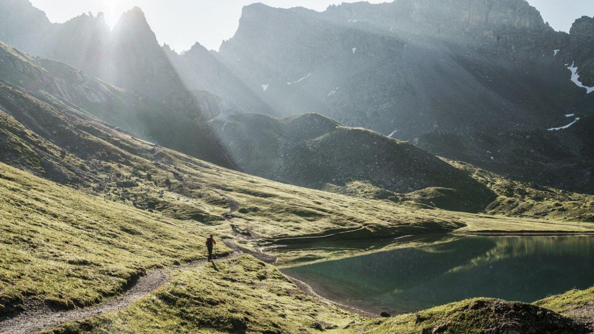 De Steinsee op de Lechtaler Höhenweg