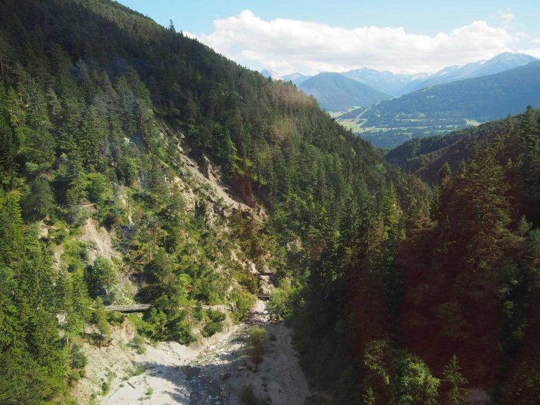 Spectaculaire uitzichten gefotografeerd vanuit de Mittenwaldbahn door onze collega Martina Nairz. (Foto: Tirol Werbung/Martina Nairz)